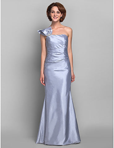 Trumpet/Mermaid One Shoulder Taffeta Mother of the Bride Dress