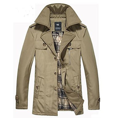 Men's Fashion Slim Leisure Thickening Coat