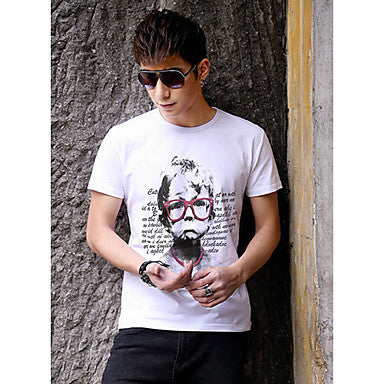 Men's Child Face Print T Shirt