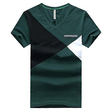Men's V Neck Korean style Casual Short Sleeve T-Shirt