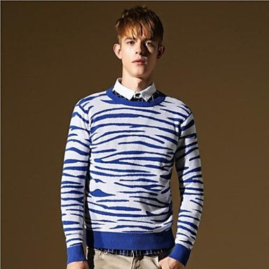 Men's High Quality O-neck Fashion Slim Fit Casual Stylish Knitwear Sweater