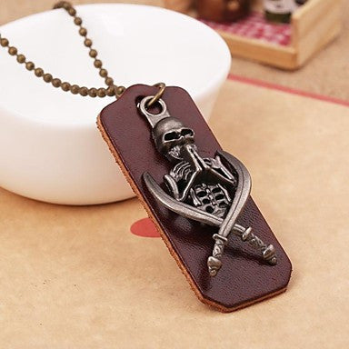 Fashion Skull Sword Alloy Pandant Necklace(1pc)