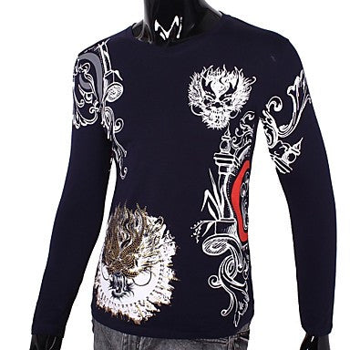 Men's Slim Casual Dragons Long Sleeve T-shirts(More Colors)