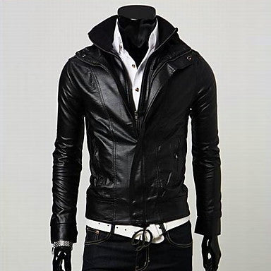 Men's Fashion Slim Fur Coat