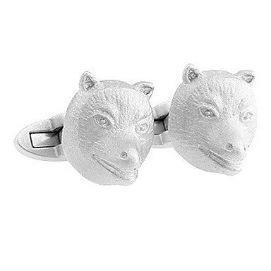 Men's Silver Animal Cufflinks(3 PCS)