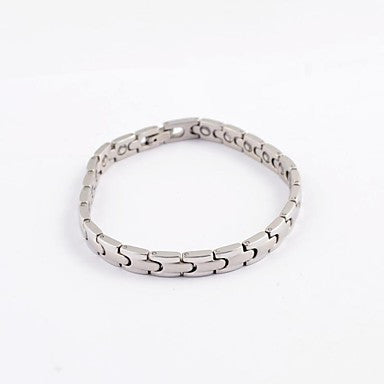 Vintage and Simple Men's Health Magnet Titanium Steel Bracelets