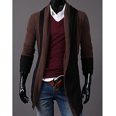 Men's Korean Style Turtle Neck tails Sweater