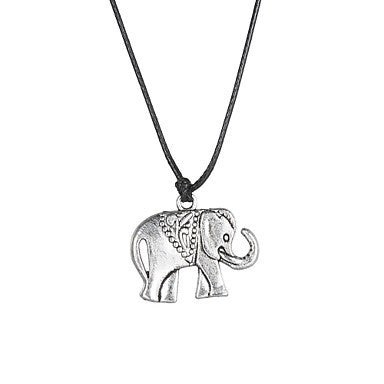 Fashion Stainless Steel Elephant Pendant Necklace