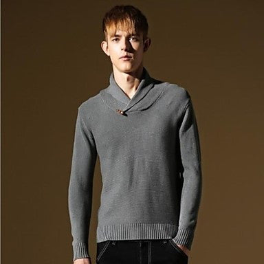 Men's New Fashion Stylish Slim Fit Top Quality Britsh Style Casual Sweater Knitwear