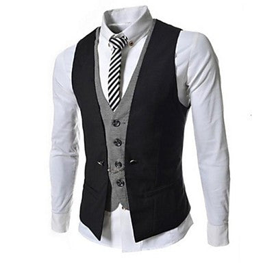 Men's Spell Color Slim Casual Vest