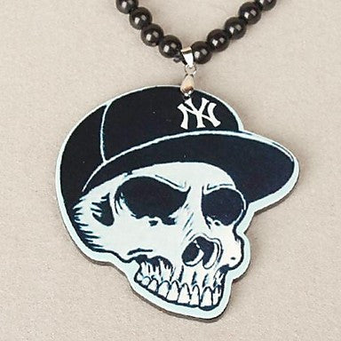 Skull Pattern Acrylic Necklace