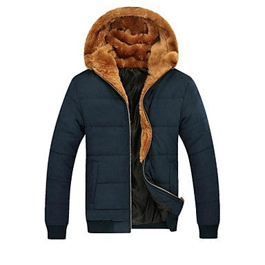 Men's Leisure Hooded Cotton Thickened Winter Coat