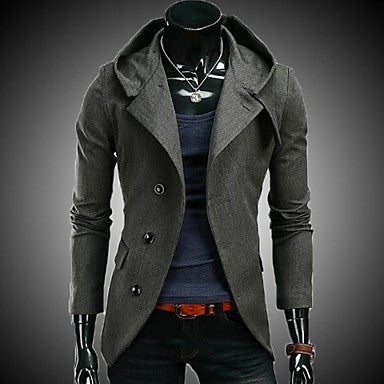 Men's Hooded Suit Small Korean Cultivating Blazer
