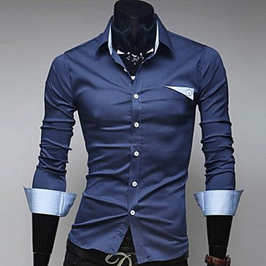 Men's Denim Shirt With Long Sleeves