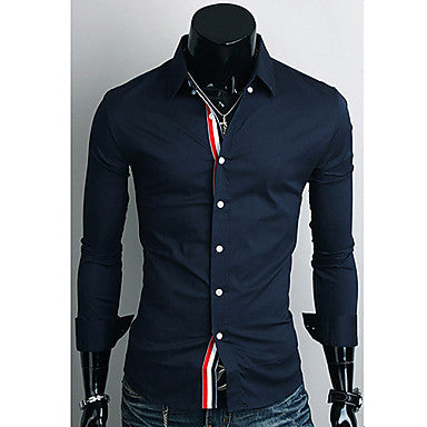 Men's Trendy Slim Long Sleeve Shirt