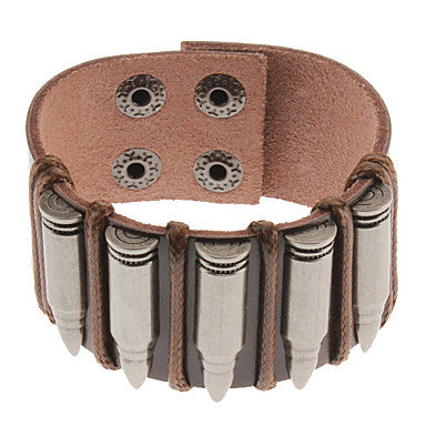 Bullet Pattern Leather Bracelet
