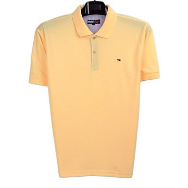 Men's Round Collar Short Sleeve Polo T Shirt