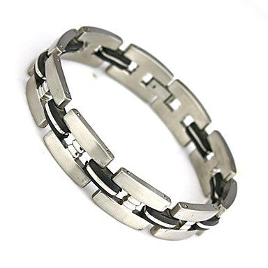 Fashion Charm Wrap Bangle Wristband 304 Stainless Steel Men's Bracelet