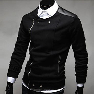 Men's Fashion Contrast Color Coat