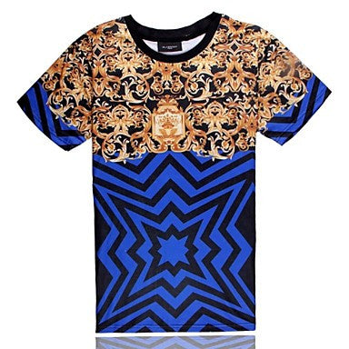 Men's of High Quality 3D Creative with Short Sleeves¡ª¡ªLine Pattern