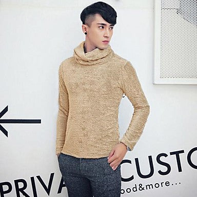 Men's Lapel Slim Jirong Sweater