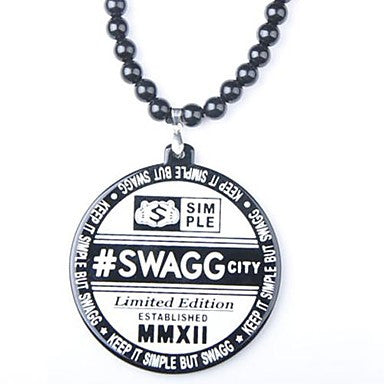 Word SWAGG Pattern Acrylic Necklace