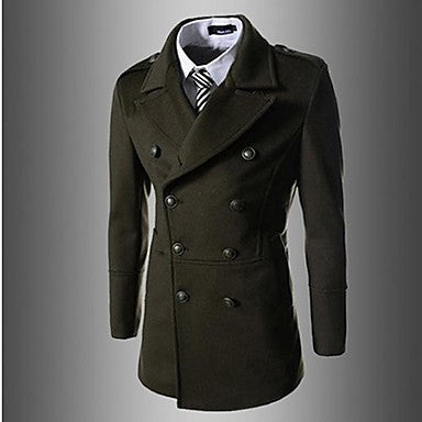 Men's Slim Lapel Double Breasted Trench Coat