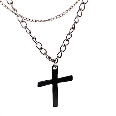 Alloy Multilayer Cross Necklace