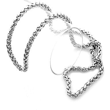 Fashion Dragon Bone Silver Titanium Steel Chain Necklace(Random Pattern) (1 Pc)