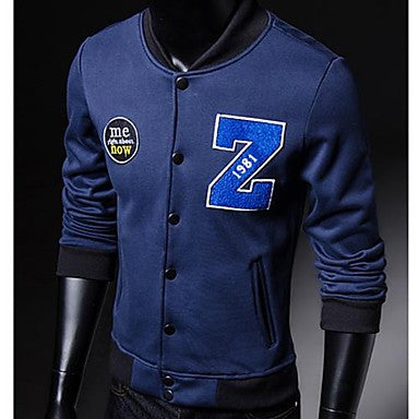 Men's Slim Baseball Jacket Coat