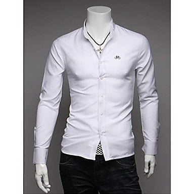 Men's Bicycle Embroidery Long Sleeve Shirts