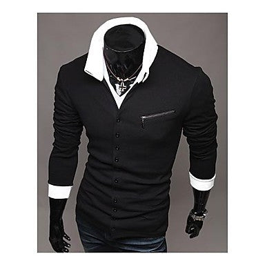 Men's Oblique zipper Slim long Sleeve knit Cardigan