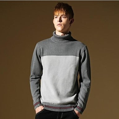 Men's New Arrives Patchwork Casual Fashion Warm Stylish Slim-fit Knitwear