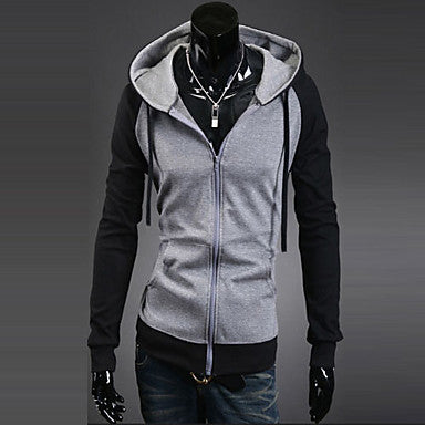 Men's Contrast Color Splicing Coat
