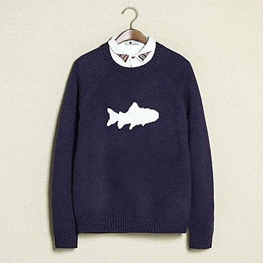 Men's Small Fresh Shark Sweater