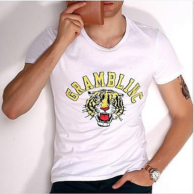 Men's Round Collar Short sleeves T-Shirt