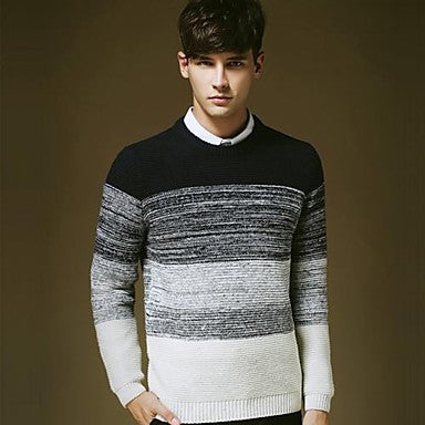 Men's Round Collar Recreational Sweater
