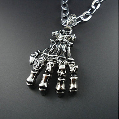 European Style Hand Bone Pendant Necklace