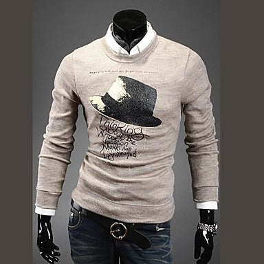 Men's Fashion Hats Printing Round Neck Sweater