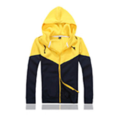 Men's Contrast Color Hoodie Jacket