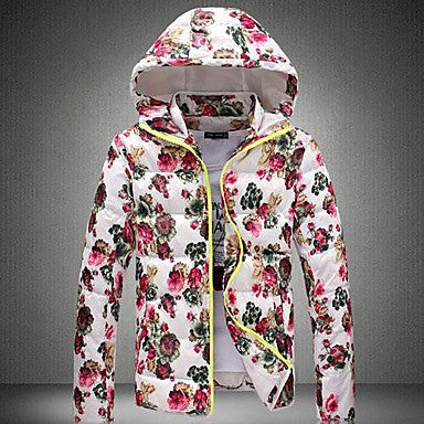 Men's Hooded Printed Cotton Coat