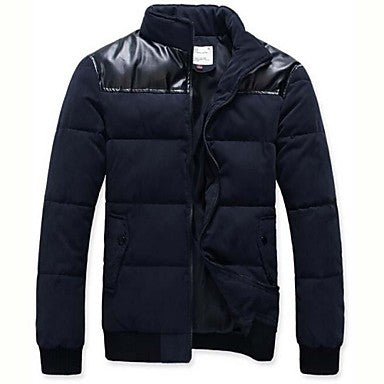 Men's Fashion Casual Cotton Hooded Padded Coat