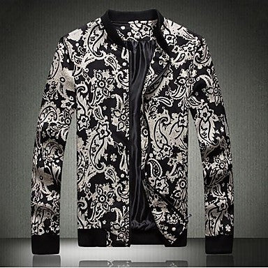 Men's Collar Printed Jacket