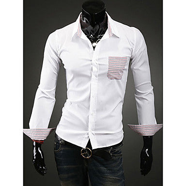 Men's Lapel Stylish Pocket Shirt