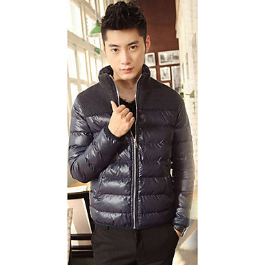 Men's Slim Star Style Splicing Coat