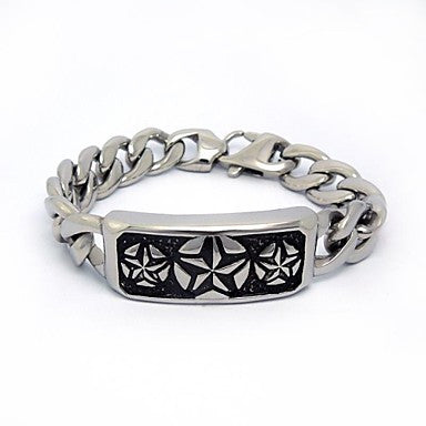 Classic Men's Charm Stainless Steel Bracelet (1 Pc)