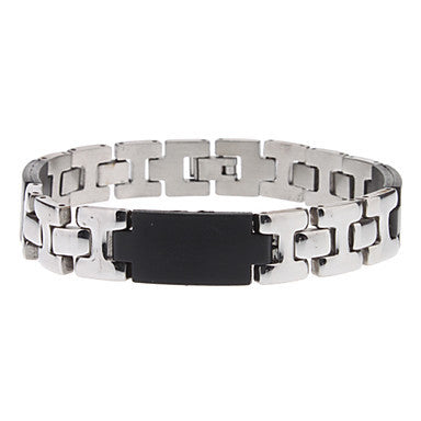 H Shape Stainless Steel Bracelet