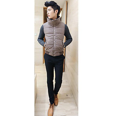 Men's False Two Pieces Splicing Coat