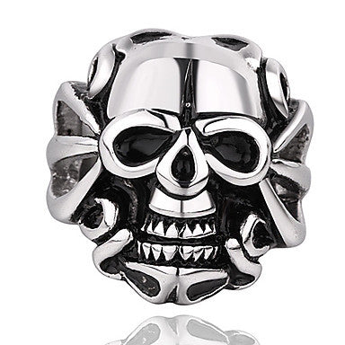 Vintage Skull Shape Men's Statement Ring(1 Pc)