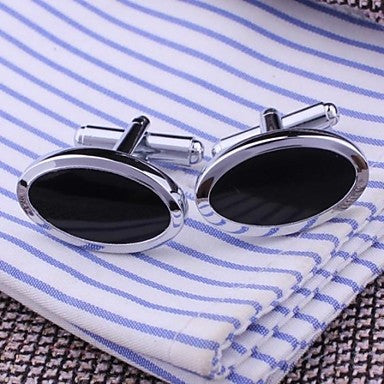 Stylish Oval Cufflinks For Men (1pair)